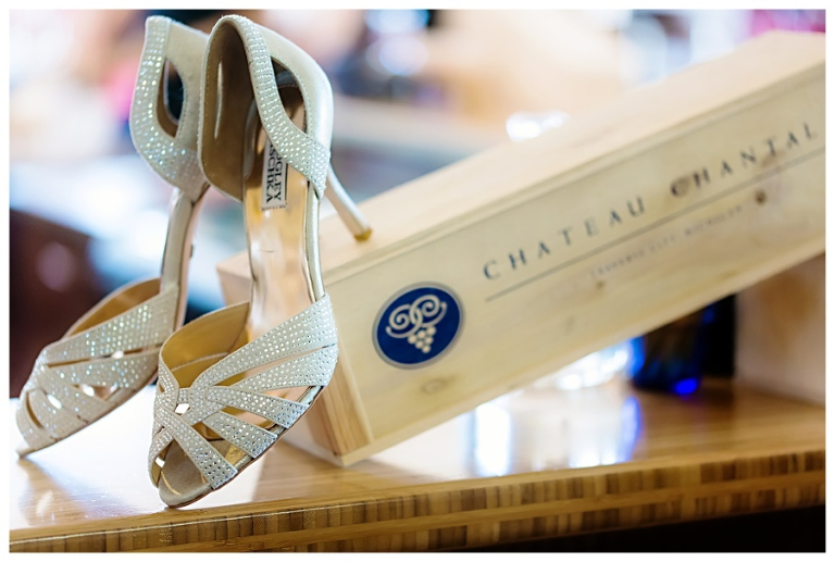 Brides Shoes With Chateau Chantal Wine Box Rayan Anastor Photography Old Mission Peninsula Wedding Photographer Pp W768 H517